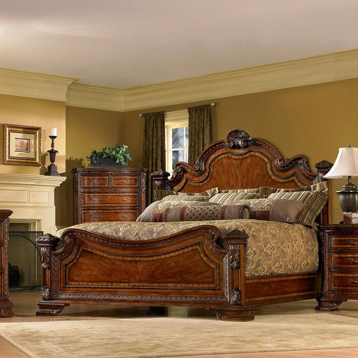A R T Furniture s Old World Wood Bedroom Furniture Collection by Humble  Abode. 25  best ideas about Old world bedroom on Pinterest   Wallpaper