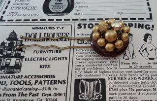 Vintage Brown and Gold Hair Pin Jewelry FREE by thineintime, $8.00