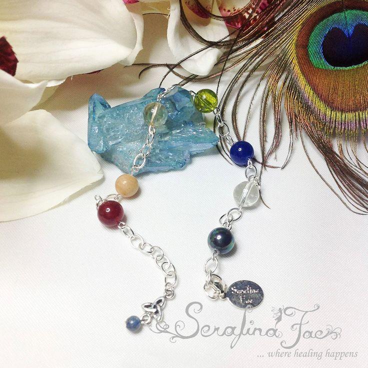 Protection Psychic Attack Negativity Ruby Jasper Ametrine Peridot Sapphire Quartz Mother of Pearl Spiritual Jewelry INFJ Empath