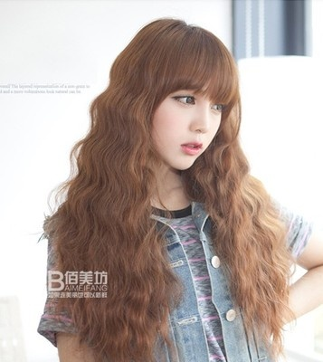 Cute Girls The Long Curls Corrugated Volume Wig Ebay