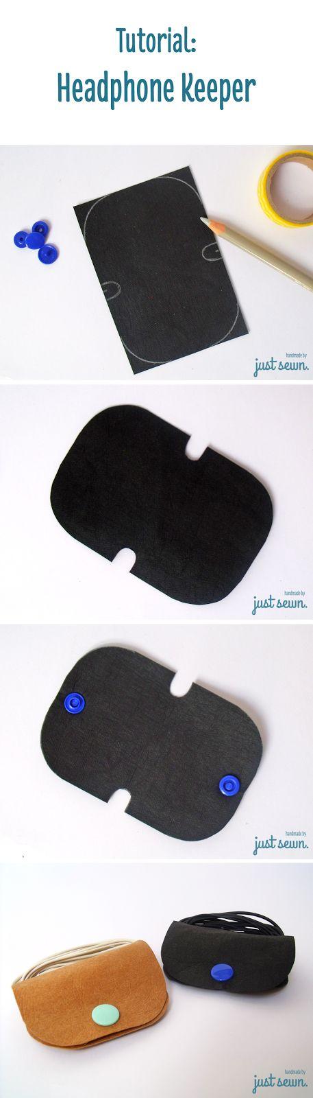 Blitztutorial: Headphone Keeper aus SnapPap - praktische Aufbewahrung für Kopfhörer oder Kabel