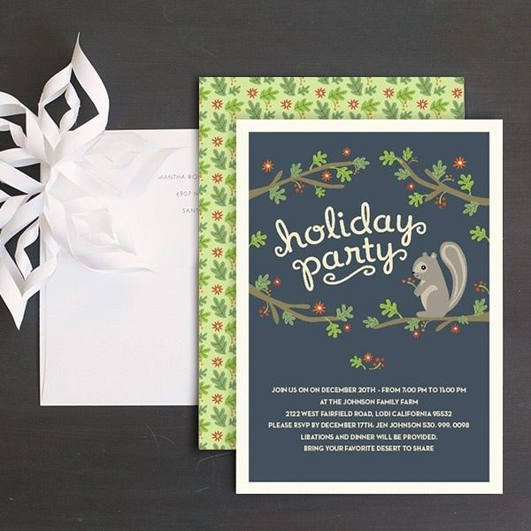 55 best Christmas Party Invitations images on Pinterest - office party invitation templates