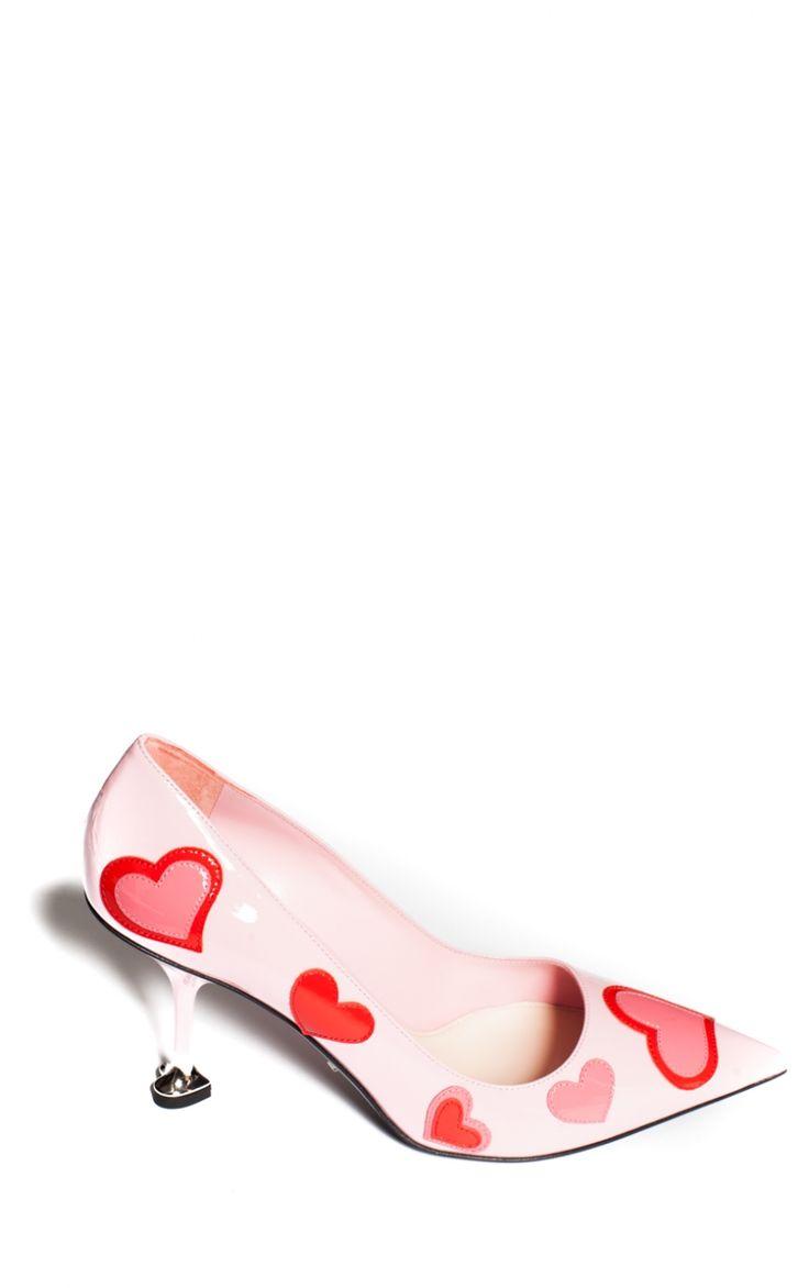 Escarpins à Brides En Cuir Glacé à Logo - Rose pâlePrada 2B2DHHn0