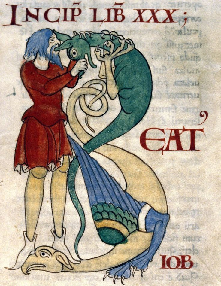 initial 'B'. Gregory the Great, Moralia in Job, Cîteaux 12th century (Dijon, Bibliothèque municipale, ms. 173, fol. 122r)