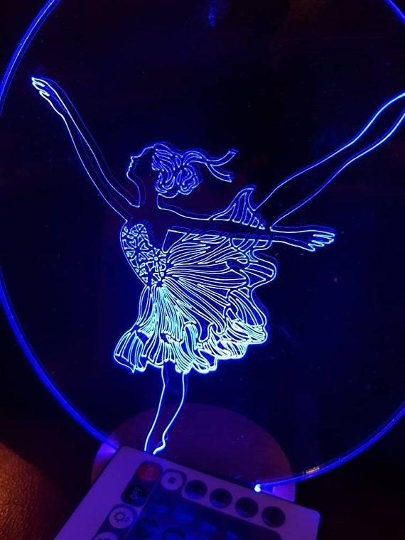Ballerina Lamp Led Light Room Decor Colour Change Ballet Exam Etsy Colorful Decor Decor Dance Rooms