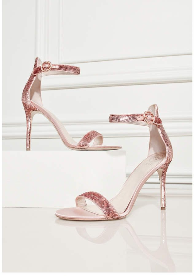 ccfe5f40b0f Guess Kahlua Sequin Ankle-Strap Heels. As Seen On Jennifer Lopez in the  Spring Campaign A sleek pair of stiletto heels featuring an open-toe design  and ...
