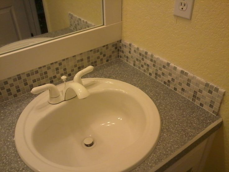 Mosaic Tile Bathroom Backsplash And Mirror Vanities Bathroom