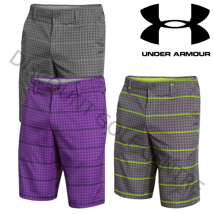 Under Armour Mens UA Performance MatchPlay Printed Golf Shorts - 1256225 #UnderArmour
