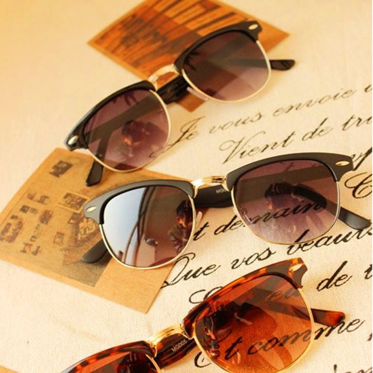 2015 New Arrival  oculos de sol feminino masculino Retro Half-frame vintage Sunglasses women men Wayfarer Frame Glasses ray band - http://www.aliexpress.com/item/2015-New-Arrival-oculos-de-sol-feminino-masculino-Retro-Half-frame-vintage-Sunglasses-women-men-Wayfarer-Frame-Glasses-ray-band/32288394542.html