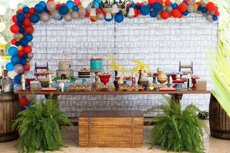 Decoração festa aniversário para menino – Tema Cavaleiro Medieval – Blog Bella Fiore