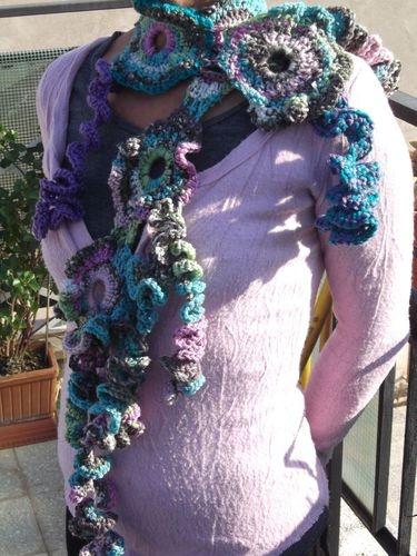 Sciarpa crochet multicolor