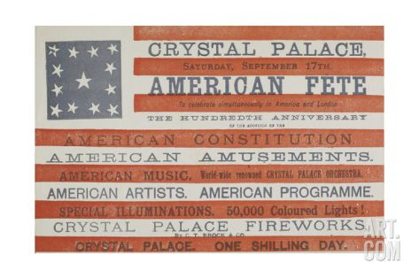 American Fete at Crystal Palace, Saturday, September 17th Giclee Print