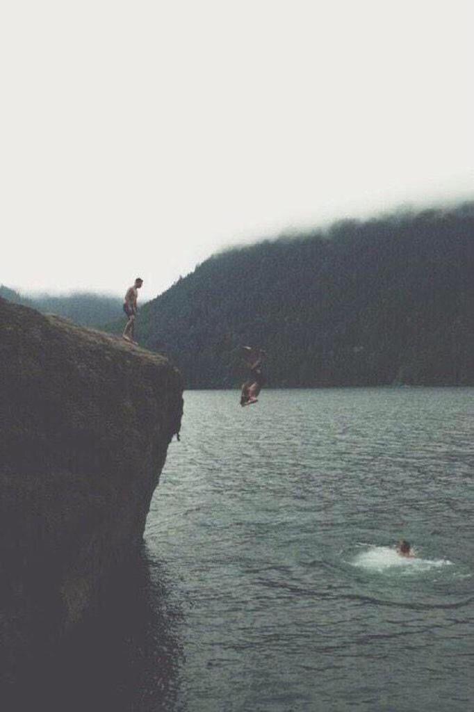 cliff near a lake