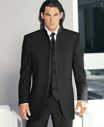 Mens Black Nehru Style Evening Dinner Tuxedo Prom Jacket