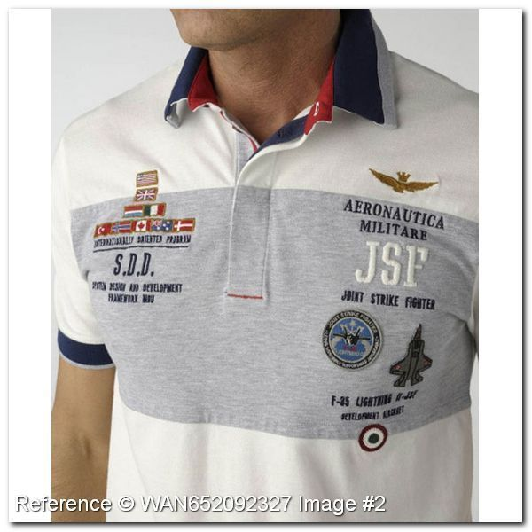 Aeronautica Militare Polo T-Shirt. Joint Strike Fighter JSF. KG227DE. Aeronautica Militare Men's Polo Shirts - Aeronautica Militare Polo Shirts & T-Shirts - trendy.to