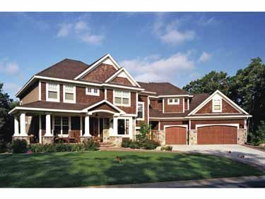 Love this one!  Home Plans HOMEPW22769 - 4,171 Square Feet, 5 Bedroom 3 Bathroom European Home with 3 Garage Bays