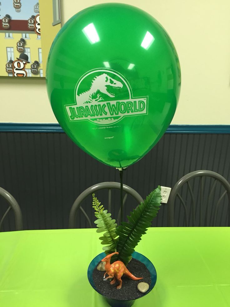 jurassic park  center pieces and parks on pinterest
