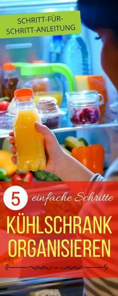 Was kommt wohin im Kühlschrank? Kühlschrank organisieren in 5 Schritten | Haushaltsfee.org