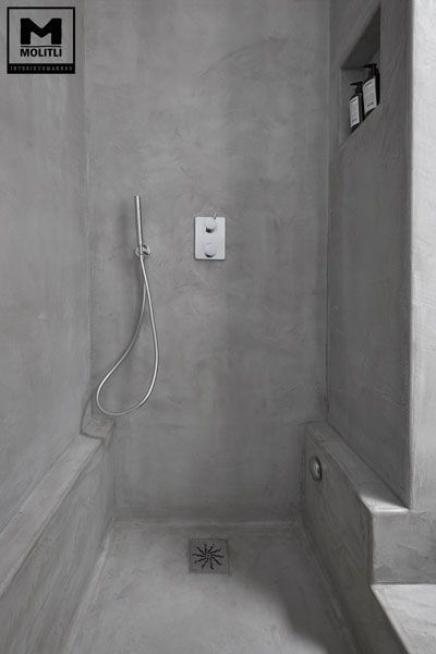 25 beste idee n over beton badkamer op pinterest betonnen douche kranen en moderne badkamers - Badkamer beton wax ...
