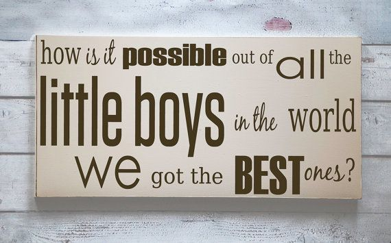 Best Little Boys - Wooden Sign - Nursery Decor - Boy's  Room Decor - Keepsake Wall Decor - Home Decor - You Pick Colors