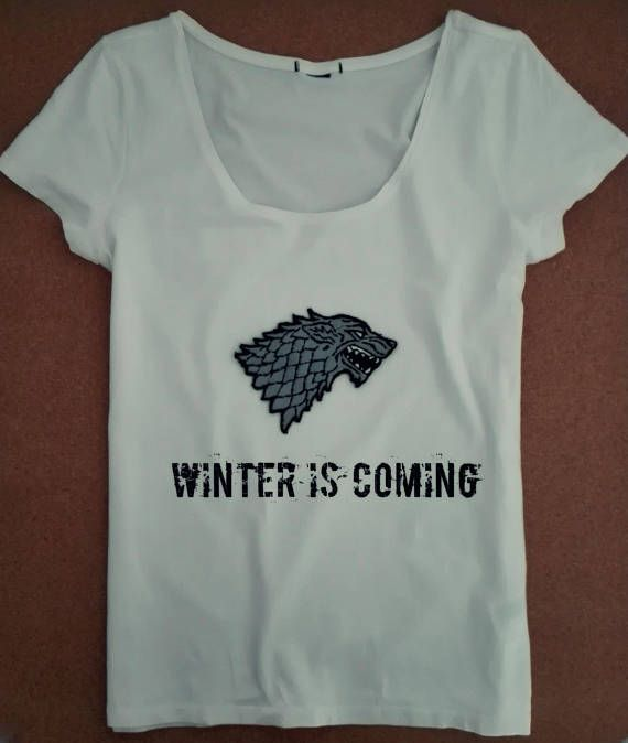 Game of Thrones House Stark Women's T-shirt with Handmade