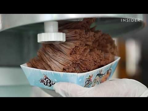 If you like shaved ice, get ready to love shaved ice cream. Mr. Bing, located in Miami, Florida, serves up paper-thin ice cream inspired by a Taiwanese dessert.