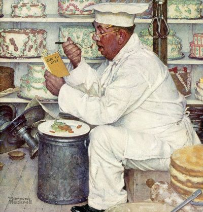 """how to diet"".....I like Norman Rockwell prints.This is one of my favorite prints. It reminds me of all the diets that I have been on through the years."