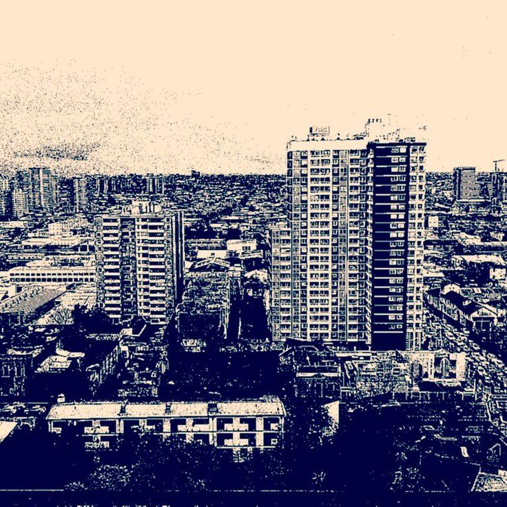 Vista desde un piso 22, Santiago de Chile, 2015