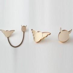 Altın Ayna Melek Şeytan Broş - #tasarim #tarz #altin #rengi #moda #nishmoda #gold #colored #design #designer #fashion #trend