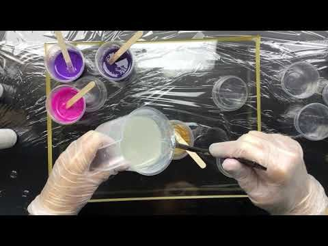 ( 433 ) Resin with Gold and Bronze ....and purple !! - YouTube