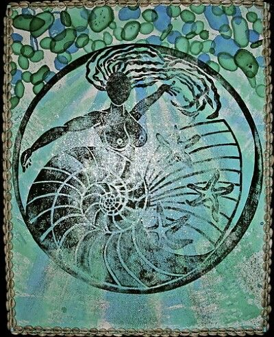 Yemanja, Orixa of the ocean by Ginga & Helen Dos Santos