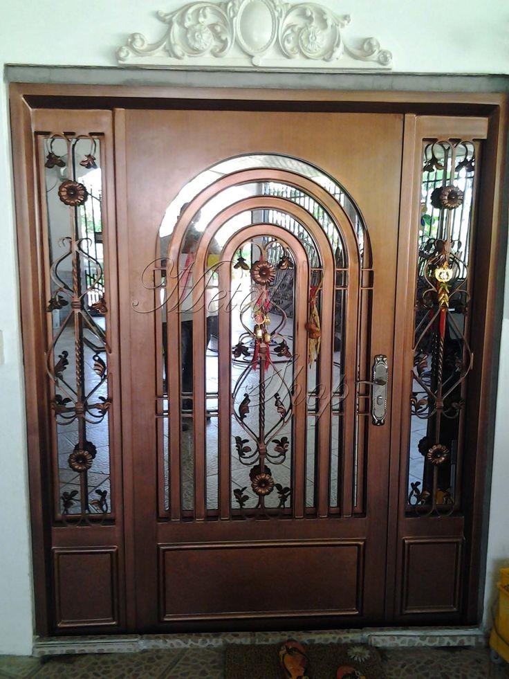 Puertas de hierro decorativas en panam iron doors yard - Puertas de metal para casas ...