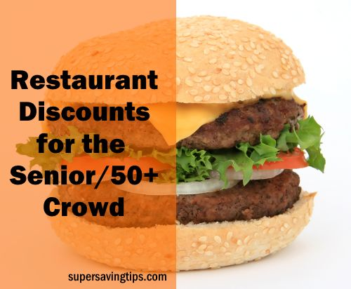 If you're 50 or older, or know someone who is, you'll want to check out this great list of senior discounts at restaurants.