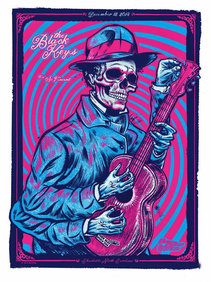 INSIDE THE ROCK POSTER FRAME BLOG: Zoltron Black Keys Charlotte ...