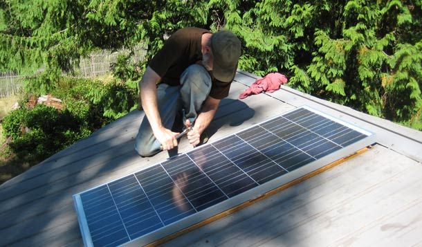 Simple DIY home solar power.  I'm going to start small--want to build one to run the pool filter and heater for next summer.