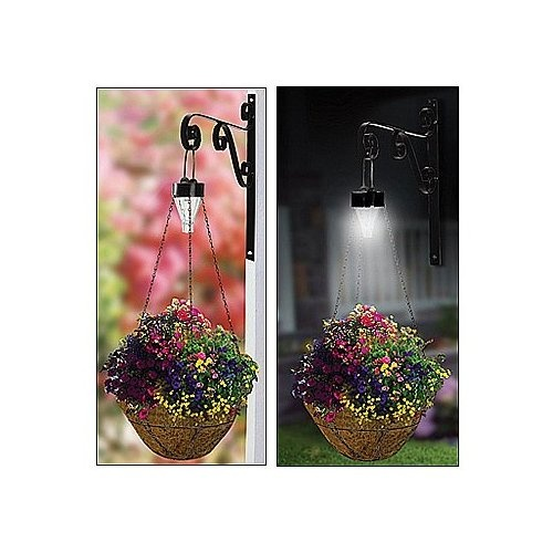 Hanging Flower Baskets With Lights : Best images about gardening outdoors on
