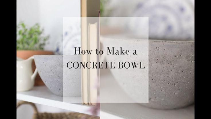 How to Make a DIY Concrete Bowl Planter I DIY HOME DECOR LIVING ROOM