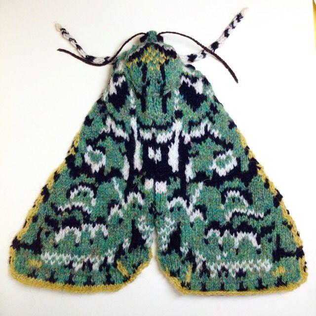 Knitted Merveille du Jour Moth by Max Alexander