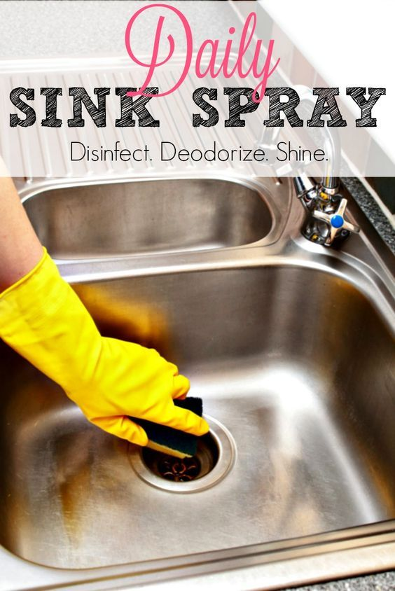 Your kitchen sink is dirtier than your toilet! Clean, deodorize, disinfect, and shine with this one simple homemade spray.