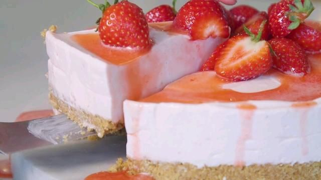 Strawberry Cheesecake with Strawberry Sauce - Woman And Home
