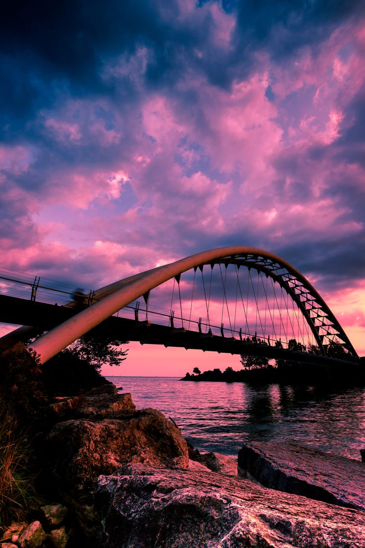 Sunset over Humber Bay - Humber Bay Arch Bridge - Toronto, ON