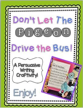 Is your class working on persuasive writing in your class? Do you students love Don't Let the Pigeon books? If so, this writing craftivity is just perfect for your kiddos!In this pack you will find:*Graphic Organizer for writing* Specific pigeon writing paper * Pigeon drawing that you can print on construction paper so your students can create their own pigeon!Hope your students enjoy!