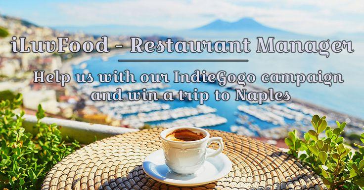 https://igg.me/at/iluvfoodcontest  Please help us with our IndieGoGo crowdfunding campaign and win a trip to Naples!!!!  Aiutateci con la nostra campagna di crowdfunding su IndiGoGo, si può vincere un viaggio a Napoli!!!!  Ayudarnos con nuestra campaña de crowdfunding IndiGoGo, puede ganar un viaje a Nápoles !!!!