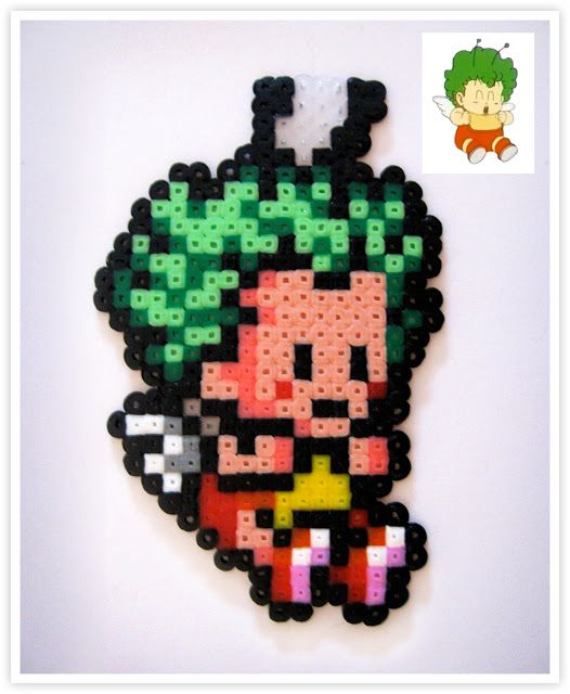 Gatchan - Dr. Slump hama mini beads by Pixel Art Shop