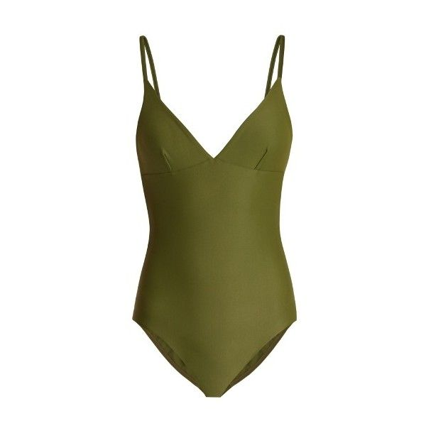 plunge swimsuit - Green Matteau Reliable Huge Surprise Clearance Cheap Real Clearance With Credit Card New Arrival For Sale fMSp1xj
