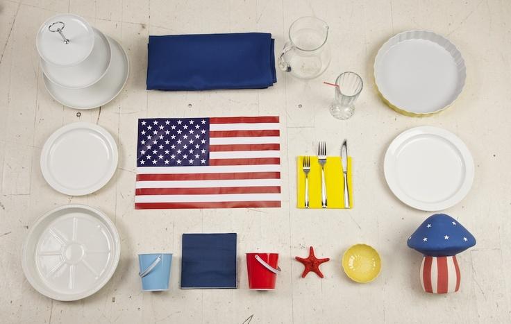 """Set for 6 person """"AmericanPie"""""""