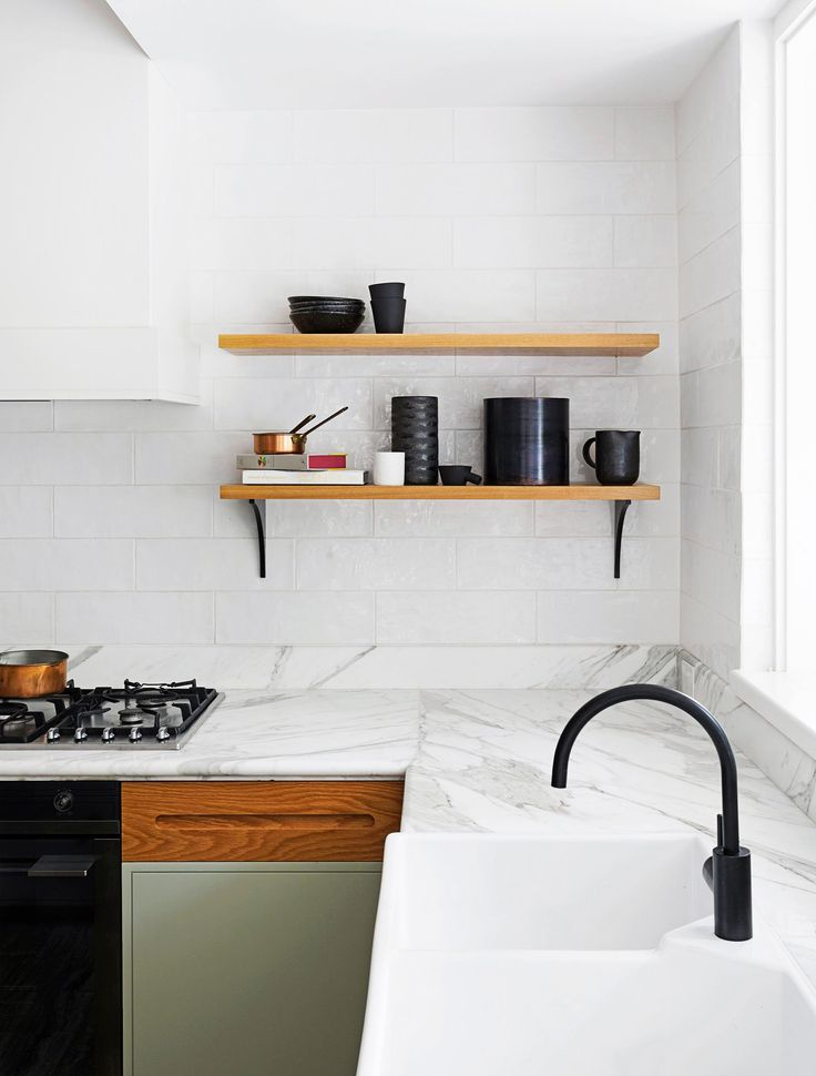 Kitchen from a renovated early-20th Century house in Sydney's Eastern Suburbs by interior designers Arent&Pyke. Photo: Felix Forest   Styling: Megan Morton
