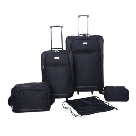 Protege 5-Piece Luggage Set, Black