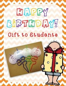 Crazy Birthday Straw - Gift to Students  - FREEBIE Rooting For Third Grade
