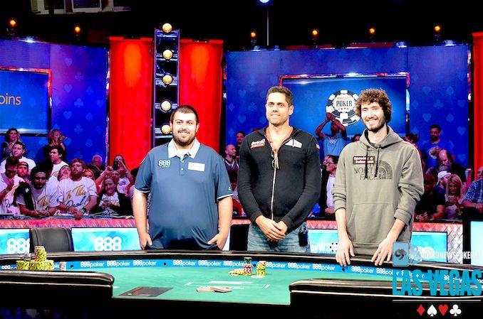 Blumstein, Ott e Pollak, i tre poker players al day10 del main Wsop 2017